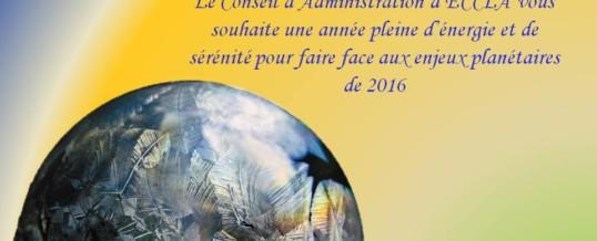 ECCLA vous souhaite une bonne année 2016