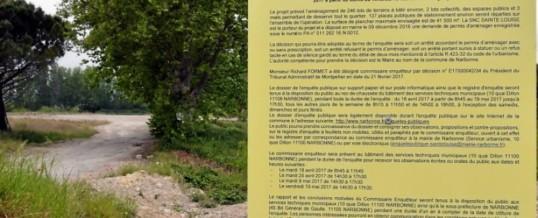 19/05 :  Quartier Sainte Louise, Narbonne : Participation d'ECCLA à l'enquête publique