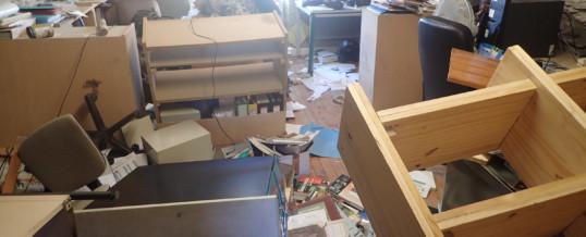 Le 12/11/15 Destruction des locaux de L'ALEPE : Quand la bêtise prend la place du dialogue